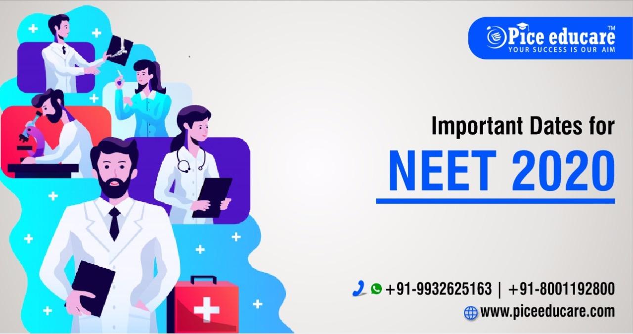 Important dates for NEET 2020 exam 4857