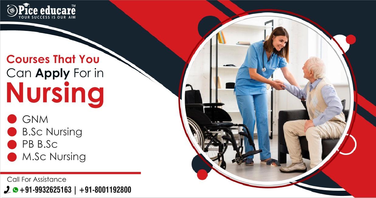 Nursing college admission details in India