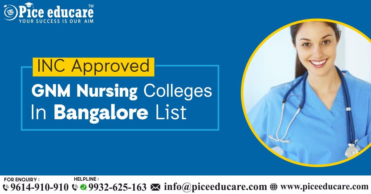 INC Certified Nursing Colleges In Bangalore